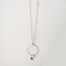 DOUBLE DIAMOND RING NECKLACE